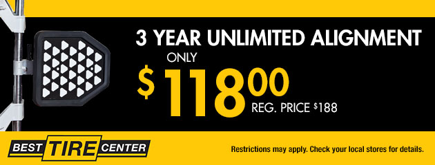 3 Year Unlimited Alignment