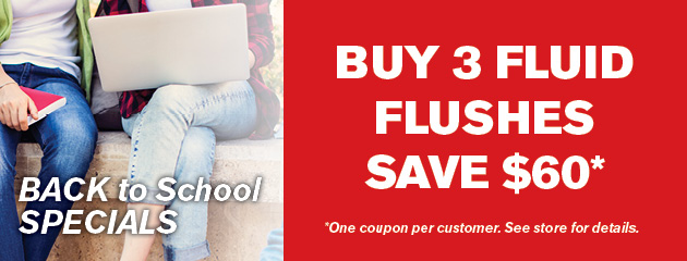 Save $60 When You Buy Three (3) Fluid Flushes