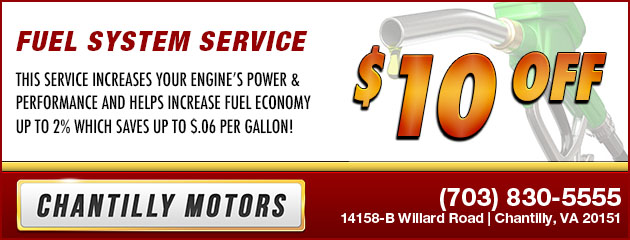 $10 Off Fuel System Service
