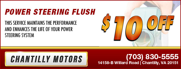 $10 Off Power Steering Flush