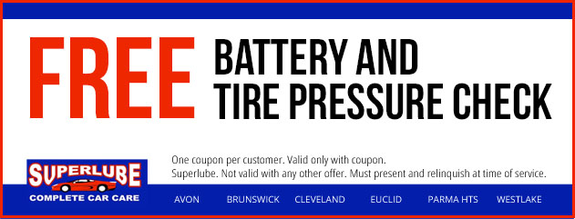 Free Battery And Tire Pressure Check