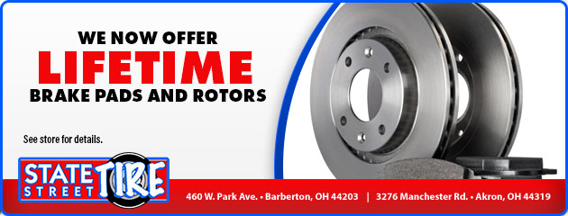 We now offer lifetime Brake Pads and Rotors