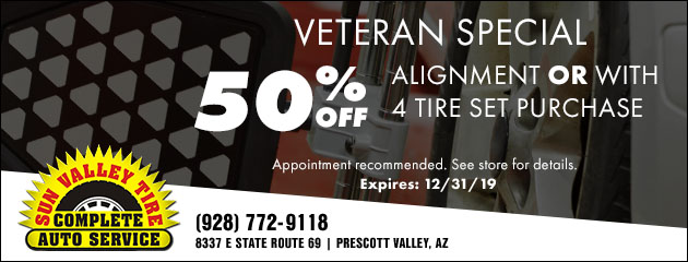 Veterans 50% Off Alignment Special