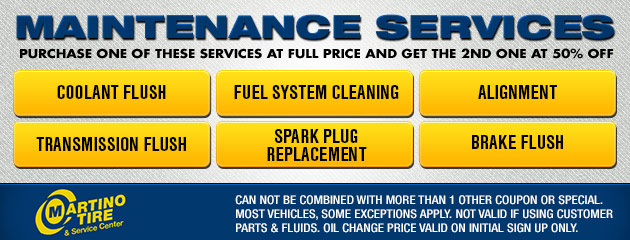 Maintenance Service Coupon