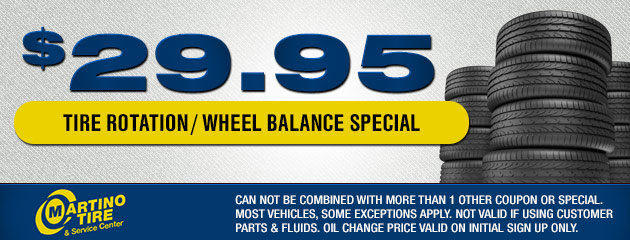$29.95 Tire Rotation/ Wheel Balancing Coupon