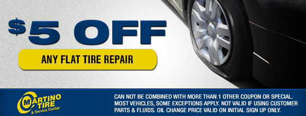 $5 Off Any Flat Tire Repair Coupon