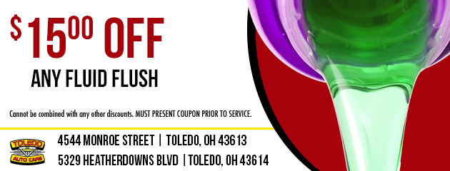 $15.00 OFF ANY FLUID FLUSH