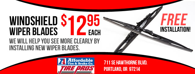 $12.95 Windshield Wiper Blades - FREE Installation!