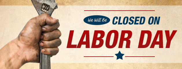 Labor Day Closed