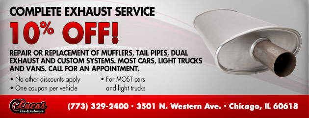 Complete Exhaust Service - 10% Off!