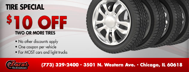 $10 OFF Tire Special