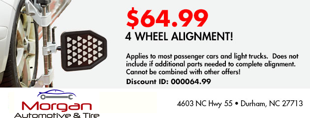 $64.99 4 WHEEL ALIGNMENT!