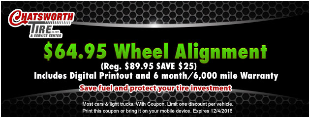 $64.95  Wheel Alignment