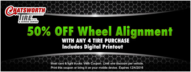 50% Off Wheel Alignment