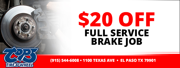 $20 Off Full Service Brake Job