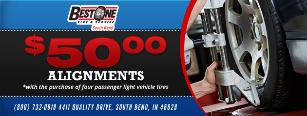 $50.00 Alignments with tire purchase