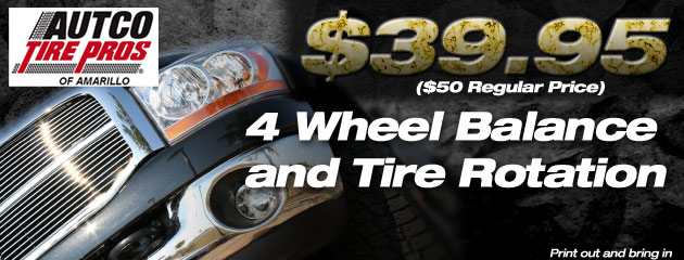 $39.95 Four Wheel Rotation and balance