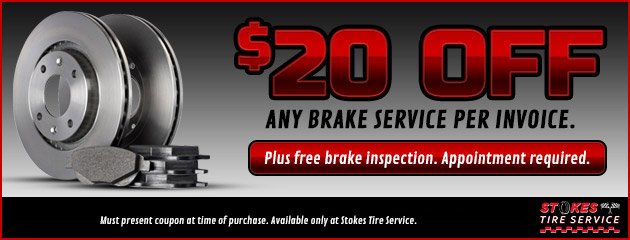 $20 Off Any Brake Service Per Invoice