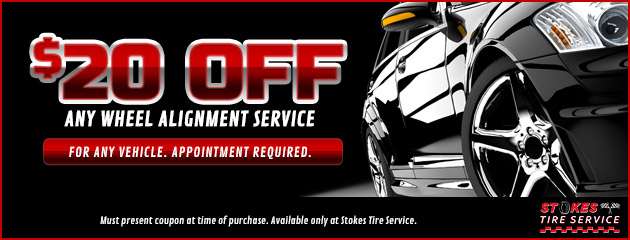 $20 Off Wheel Alignment Service