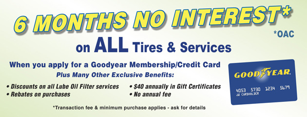 Goodyear 6 Months No Interest