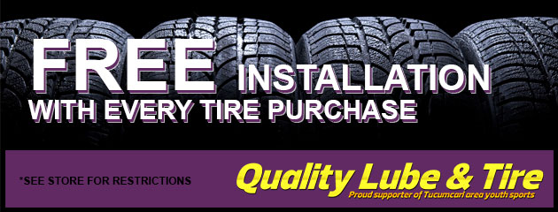 Free Installation with every tire purchase!