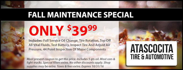 Fall Maintenance Special