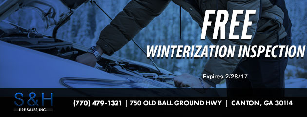 FREE Winterization Inspection