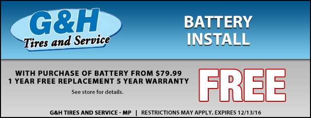 Free Battery Install