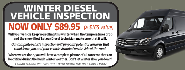 Winter Diesel Vehicle Inspection