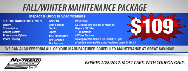 Fall/Winter Maintenance Package