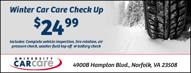 Winter Car Care Check Up: $24.99