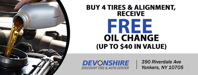 FREE Oil Change with the purchase of 4 tires and alignment