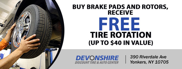 FREE Tire Rotation with the purchase of brake pads and rotors
