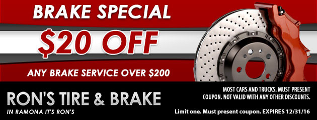 $20 Off Any Brake Service over $200