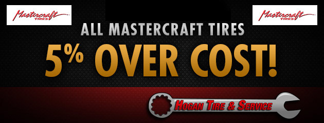 All Mastercraft Tires are 5% Over Cost