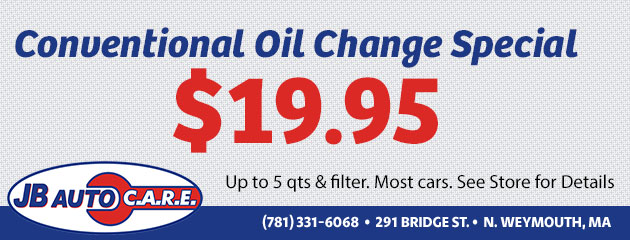 $19.95 Conventional Oil Change