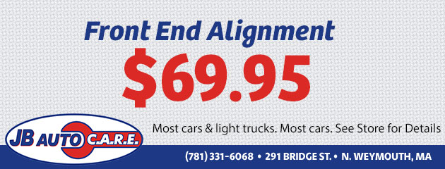 $69.95 Front end alignment