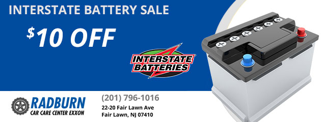 $10 OFF Interstate Battery Sale