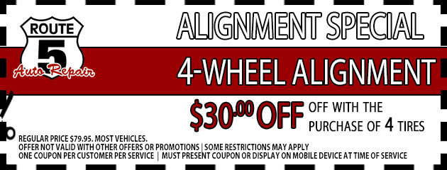 $30 Off with the purchase of 4 tires