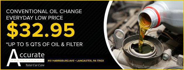 $32.95 Conventional Oil Change
