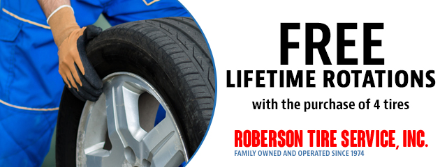 FREE Lifetime Rotations with the purchase of 4 tires