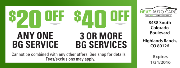 $20.00 Off Any one BG Service
