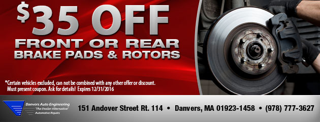 $35 OFF on Brake Pads & Rotors