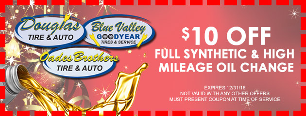 $10 OFF Full Synthetic and High Mileage Oil Change