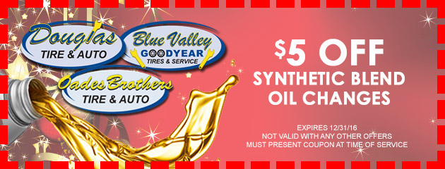 $5 OFF Synthetic Blend Oil Changes