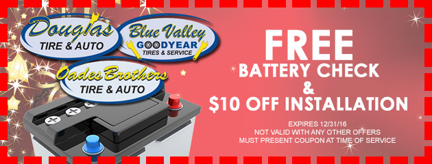 FREE Battery Check and $10 OFF Installation