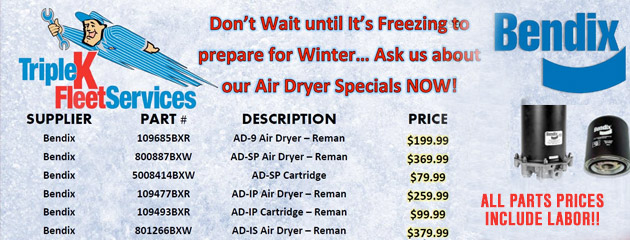 Air Dryer Specials