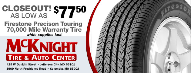 Firestone Precision Touring Tire Closeout