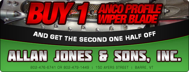 Buy one Anco Profile wiper blade and get the second one half off!