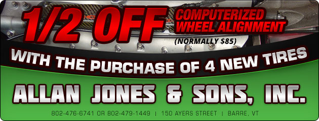 Half Price Computerized Wheel Alignment